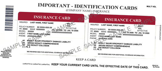 Fake Car Insurance Card